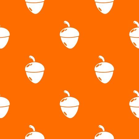 Acorn pattern vector orange for any web design best