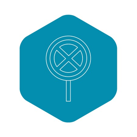 Clearway sign icon, outline style