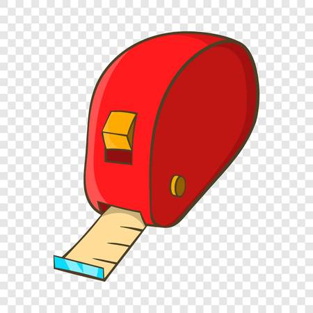 Measuring tape icon in cartoon style isolated on background for any web design