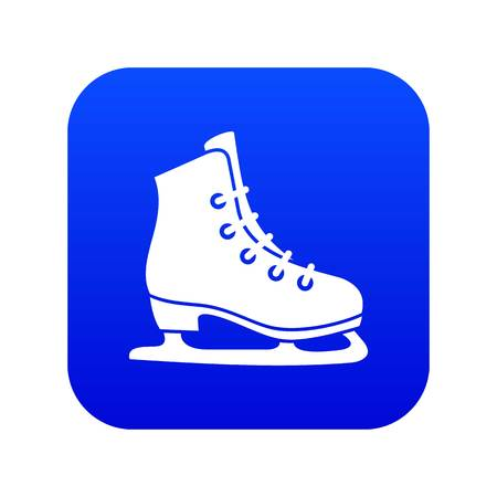 Skates icon digital blue for any design isolated on white vector illustration Stock Illustratie