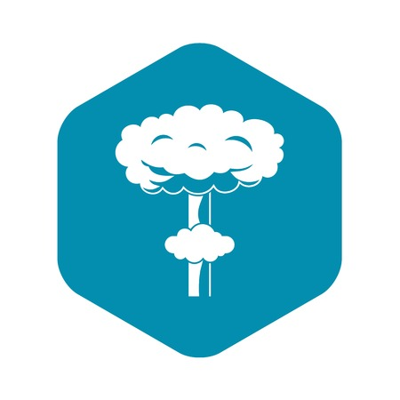 Nuclear explosion icon in simple style isolated vector illustration