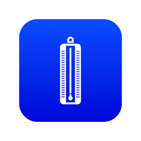 Thermometer indicates low temperature icon digital blue for any design isolated on white vector illustration