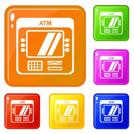 Computer icons set vector color