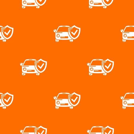 Insurance car pattern vector orange for any web design best Illusztráció