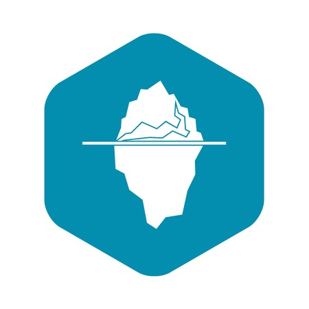 Iceberg icon in simple style isolated vector illustration Banque d'images - 124331554