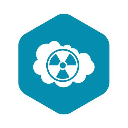 Cloud and radioactive sign icon in simple style isolated vector illustration Reklamní fotografie - 124331563