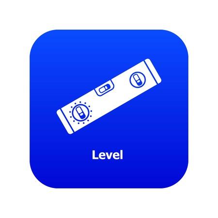Level icon blue vector Stock Illustratie