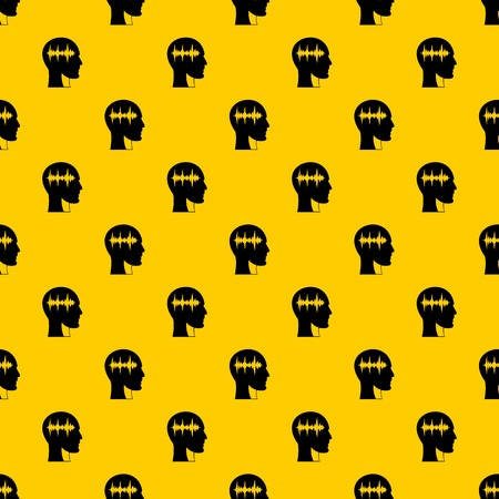 Sound wave pattern seamless vector repeat geometric yellow for any design Imagens - 124331624