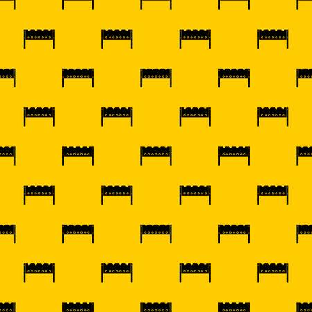 Brazier pattern seamless vector repeat geometric yellow for any design