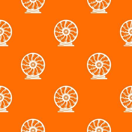 Perpetuum mobile pattern vector orange Stock Illustratie