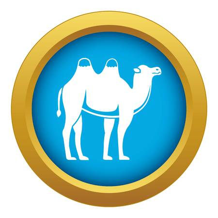 Camel icon blue vector isolated on white background for any design Illustration