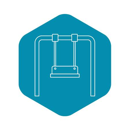 Playground swing icon, outline style