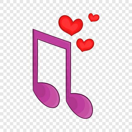 Love song icon in cartoon style isolated on background for any web design Illustration