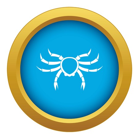 Crab sea animal icon blue vector isolated