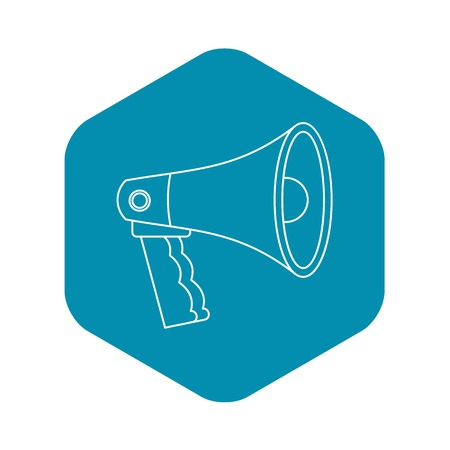 Bullhorn icon. Outline illustration of bullhorn vector icon for web Stock Vector - 124331704