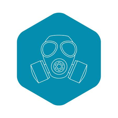 Gas mask icon. Outline illustration of gas mask vector icon for web