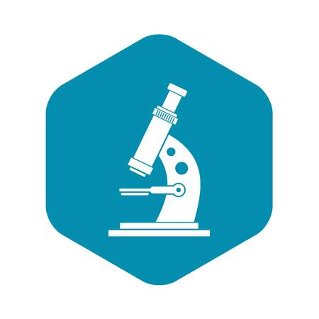 Microscope icon in simple style isolated vector illustration Illustration