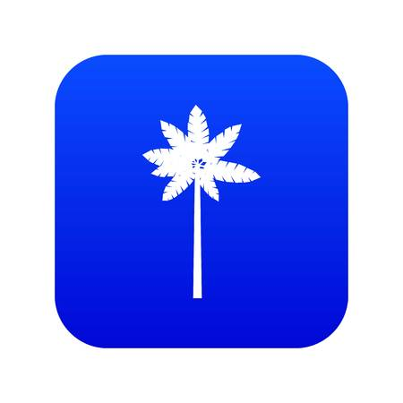 Palm woody plant icon digital blue