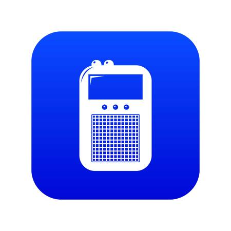 Portable radio icon blue vector isolated on white background Stock Vector - 124331735