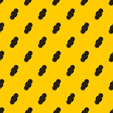 Sanitary napkin pattern seamless vector repeat geometric yellow for any design
