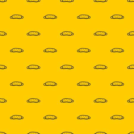 Sleeping mask pattern seamless vector repeat geometric yellow for any design