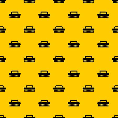 Cleaning brush pattern seamless vector repeat geometric yellow for any design