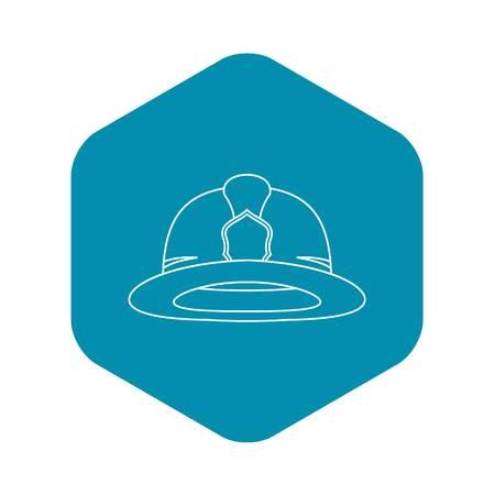 Fireman helmet icon, outline style
