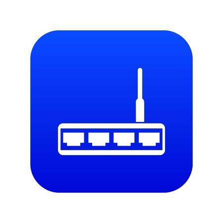 Router icon digital blue Illustration