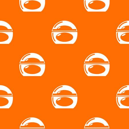Soap dish pattern vector orange for any web design best