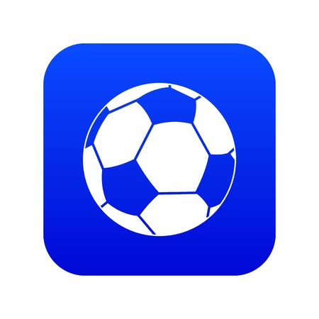 Football ball icon digital blue