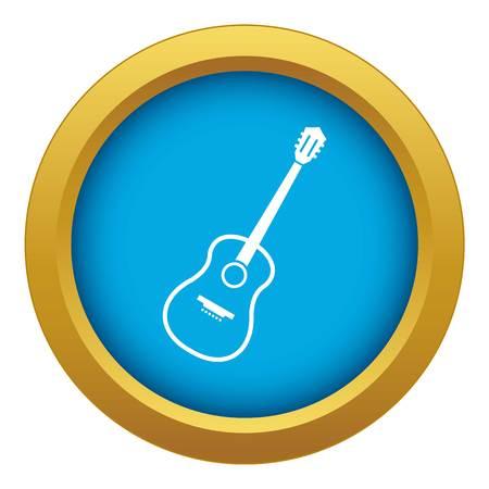 Charango icon blue vector isolated