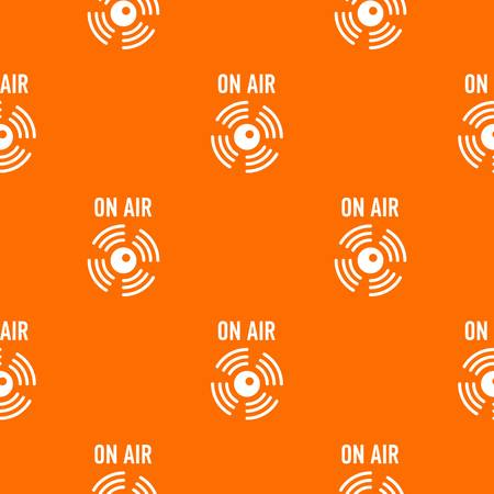 On air radio pattern vector orange for any web design best