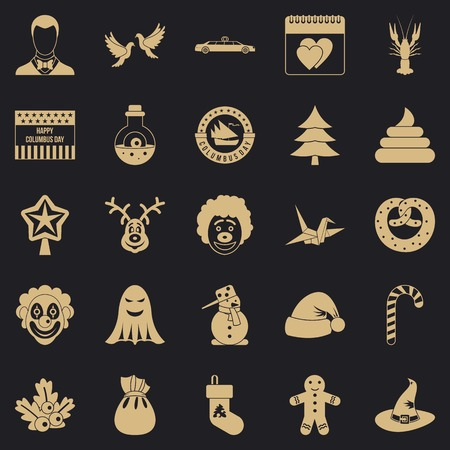 Holiday cake icons set. Simple set of 25 holiday cake vector icons for web for any design