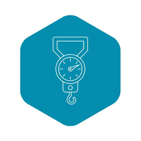 Steelyard icon. Outline illustration of steelyard vector icon for web Векторная Иллюстрация