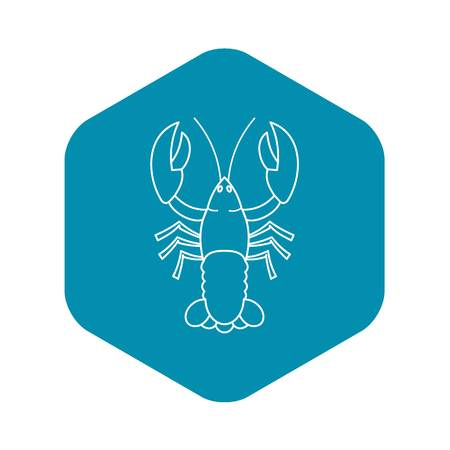 Crayfish icon, outline style