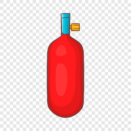 Gas hand grenade icon in cartoon style on a background for any web design