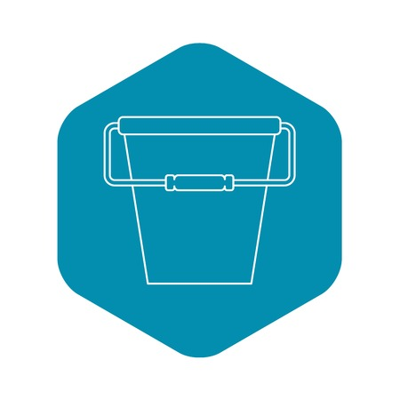 Bucket icon. Outline illustration of bucket vector icon for web Illustration