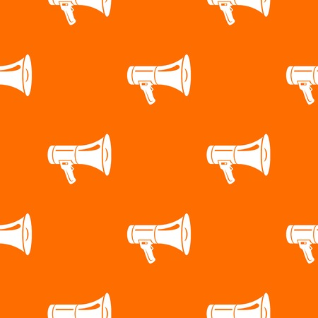 Megaphone pattern vector orange for any web design best