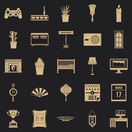Habitation icons set. Simple set of 25 habitation vector icons for web for any design