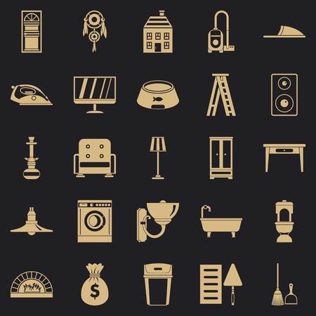 Quarters icons set. Simple set of 25 quarters vector icons for web for any design