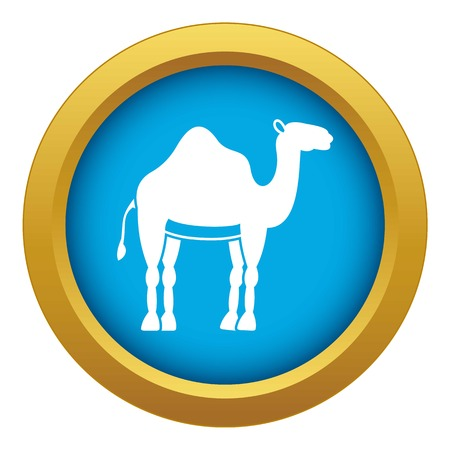 Camel icon blue vector isolated Illusztráció