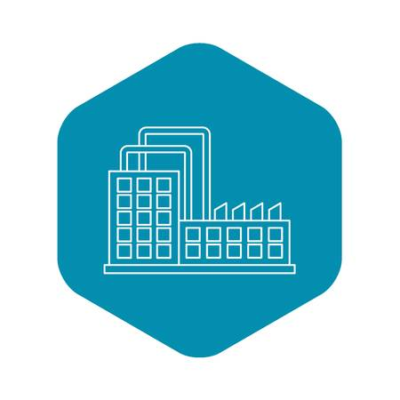 Power plant icon. Outline illustration of power plant vector icon for web Illustration
