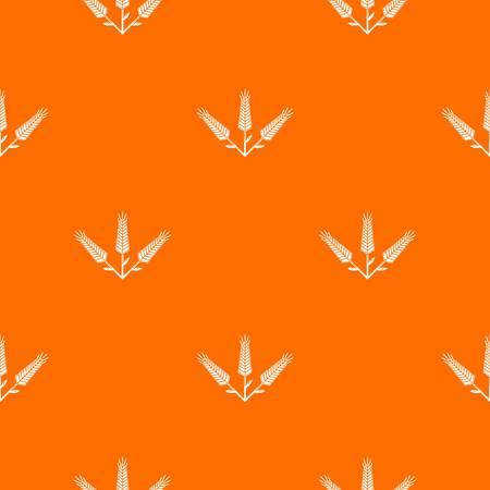 Abundant wheat pattern vector orange