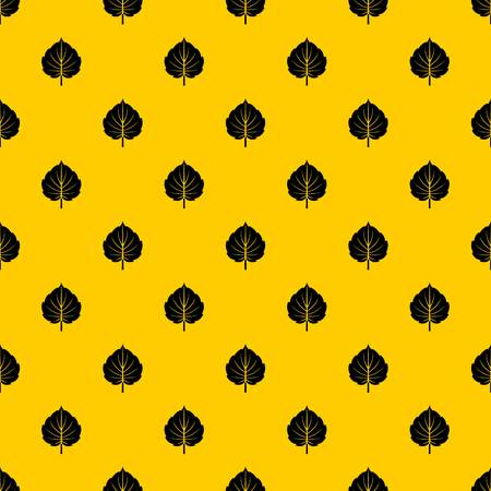 Alder leaf pattern seamless vector repeat geometric yellow for any design