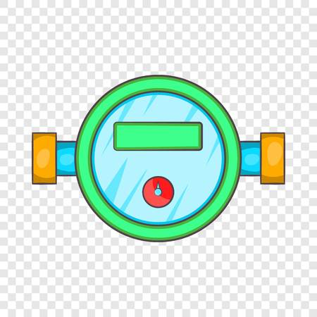 Water meter icon in cartoon style on a background for any web design