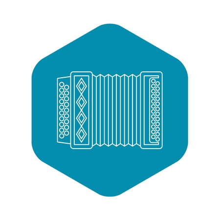 Accordion icon, outline style