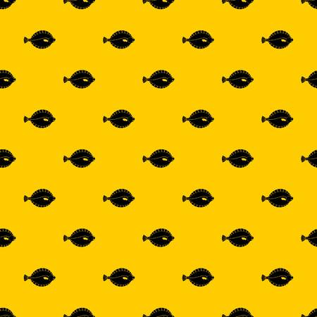 Flounder pattern seamless vector repeat geometric yellow for any design