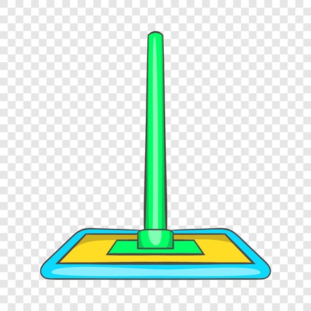 Floor cleaning mop icon in cartoon style on a background for any web design