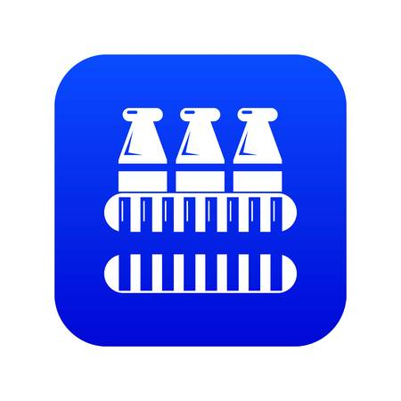 Bottles milk icon blue vector isolated on white background
