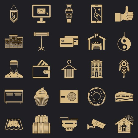 Lodge icons set. Simple set of 25 lodge vector icons for web for any design  イラスト・ベクター素材